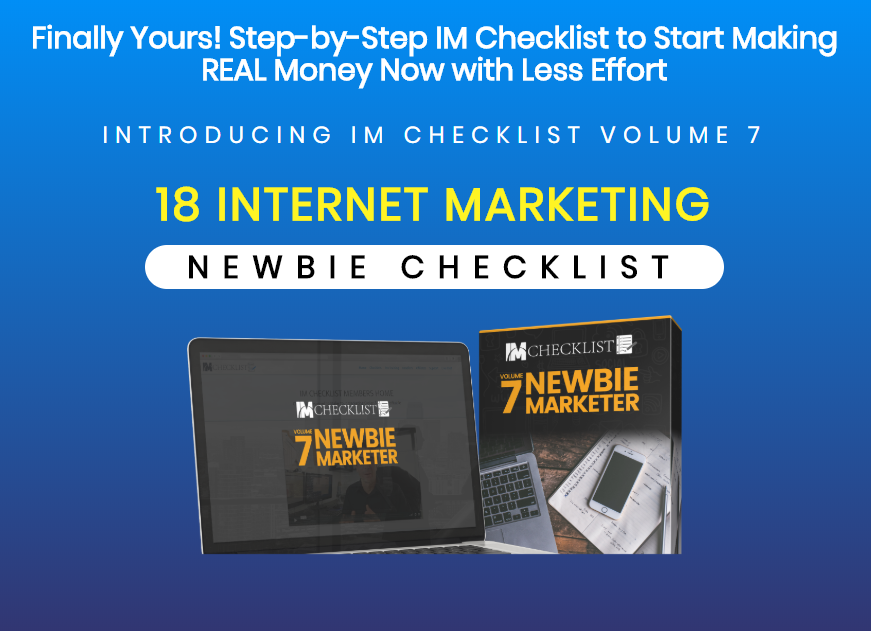 im checklist newbie marketer review